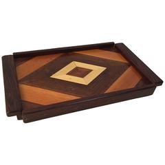 Don Shoemaker Mixed Woods Parquetry Serving Tray