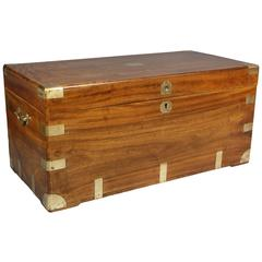 Chinese Export Brass Bound Camphor Wood Trunk