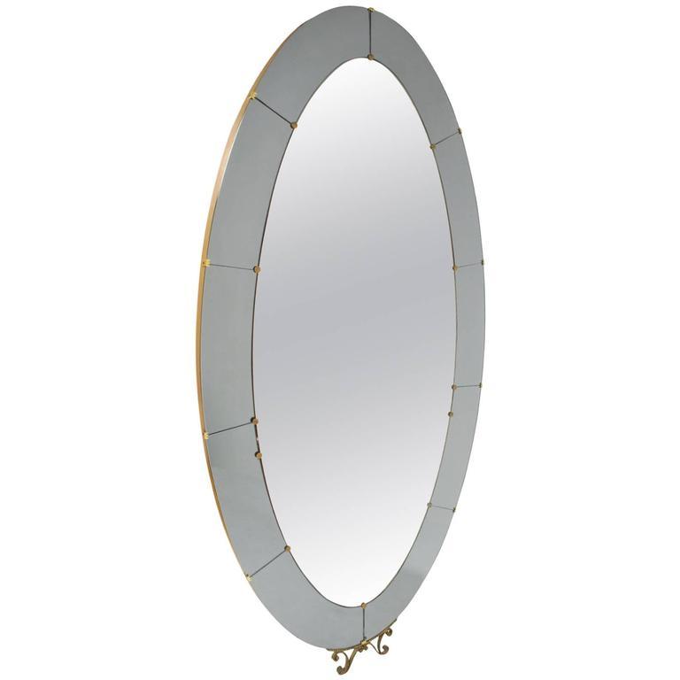 Crystal arte standing floor mirror with smoke grey and for Grey floor length mirror