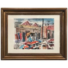 The Farmer's Market Maxwell Street Chicago Painting by David Segel