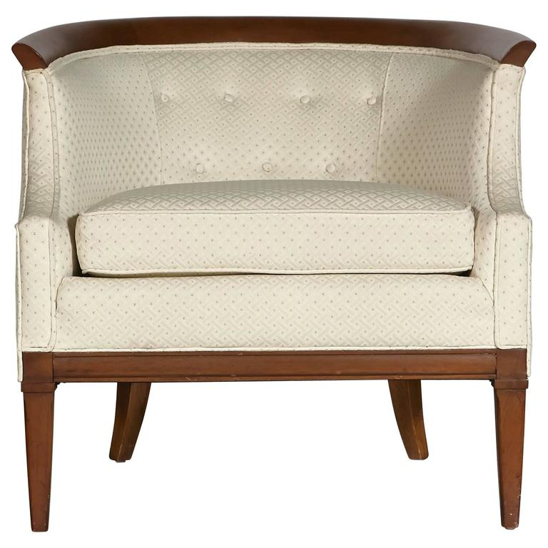 Walnut Sculpted Lounge Chair by Erwin-Lambeth