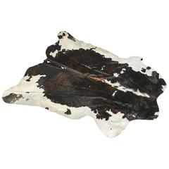 Argentinian Natural Black and White Cowhide Rug