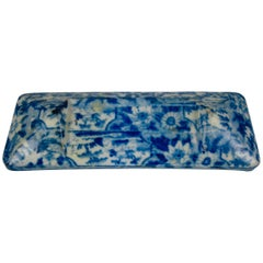 Staffordshire Pearlware Blue and White Transferware Knife Rest, circa 1820