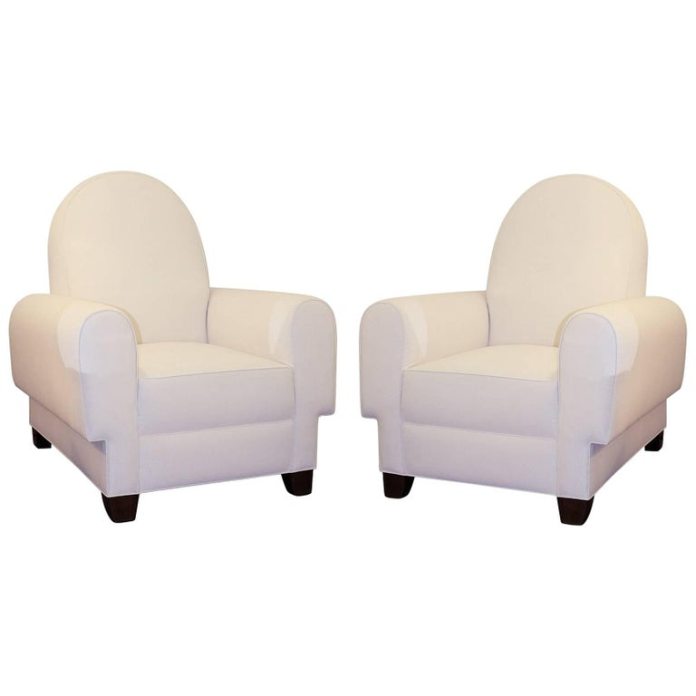 French Art Deco Pair of Chairs 1950 For Sale