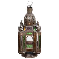 Handcrafted Moroccan Moorish Glass Lantern or Pendant