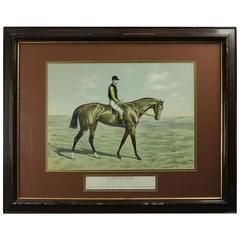 """Equestrian Print """"Fleurissant"""" by Mourle, Grand Steeple Chase, circa 1892"""