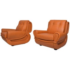 Pair of Art Deco Armchairs after Jean Michel Frank
