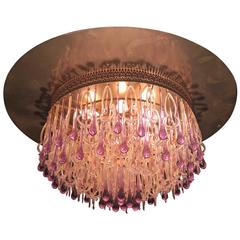 Extraordinary and Rare Chandelier Attributed to Barovier & Toso, 1960s