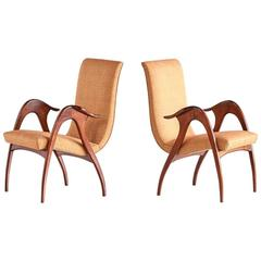 Pair of Sculptural Armchairs by Malatesta and Mason, Early 1950s