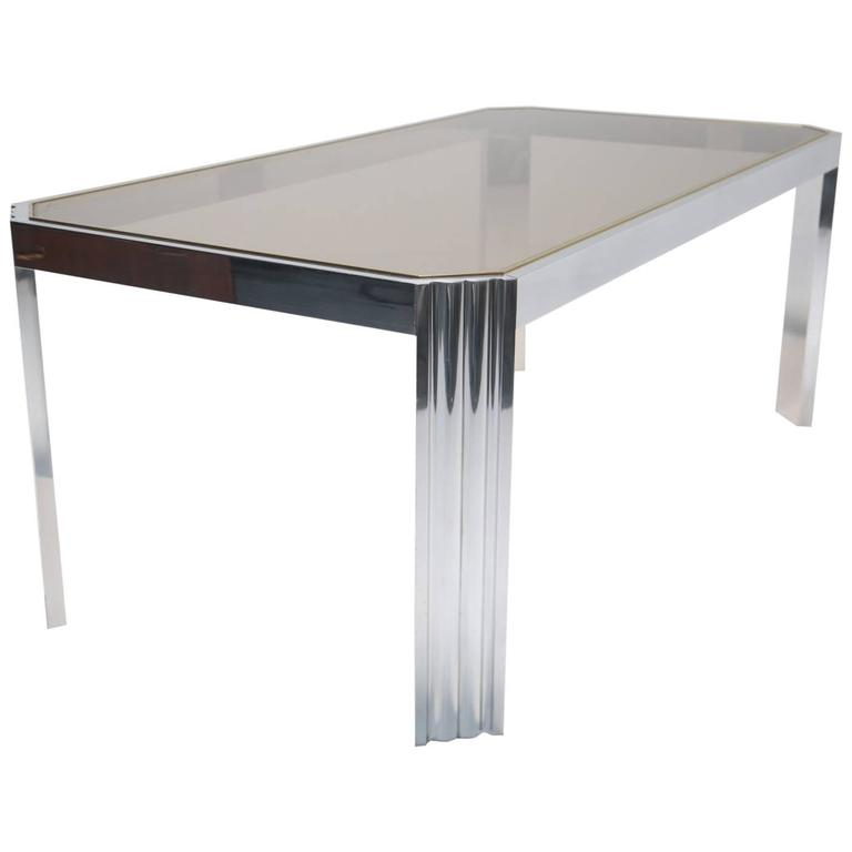 Mid-Century Aluminum Dining Table