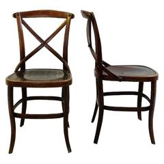 Late 19th Century Pair of N°91 Chairs by Jacob and Josef Kohn