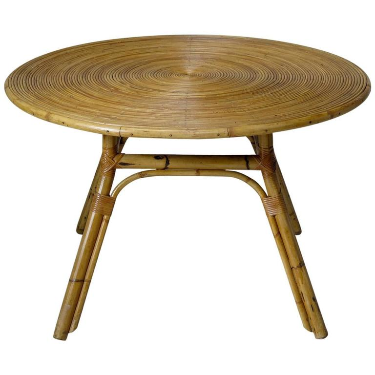 Bamboo Dining Table, France, circa 1960s