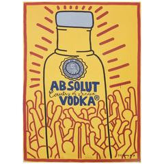 "Keith Haring ""Absolut Vodka"" Window Board Poster"