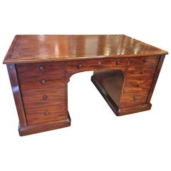 19th Century Mahogany Partners Desk, circa 1830