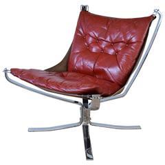Sigurd Ressell Chrome Base Falcon Chair