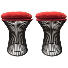 Pair of Warren Platner Bronze Stools for Knoll