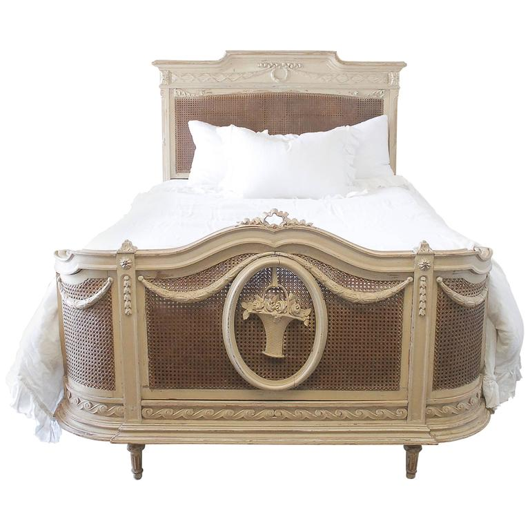 19th century full size french country style painted double for French country style beds