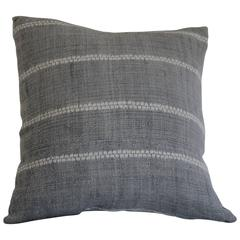 Antique Grey Shibori Style Accent Pillow with Insert