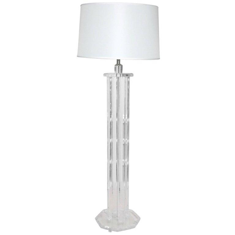 1970s Lucite Floor Lamp