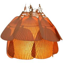 Rare Ju-Yon UCHIWA Ceiling Lamp by Ingo Maurer, 1973