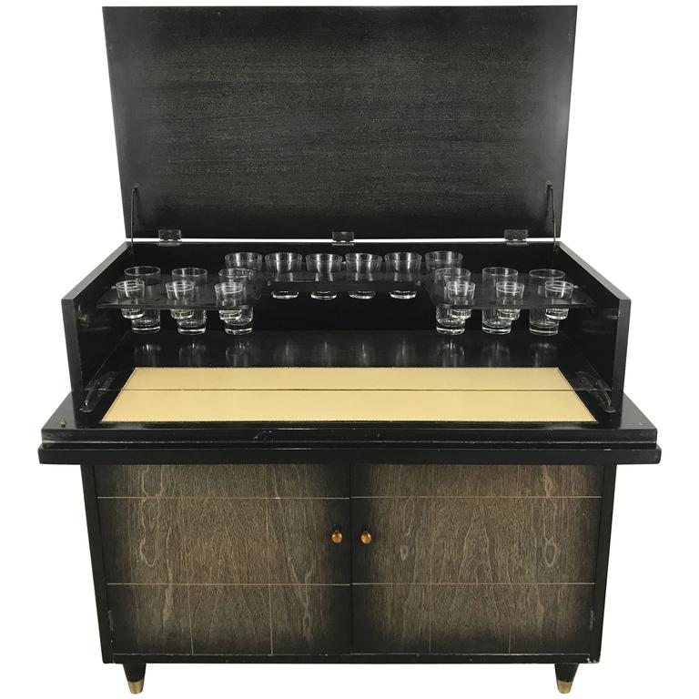 Mid-Century Modern Dry Bar, Cabinet, Server or Storage