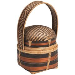 20th Century Songye Basket from Angola or DR Congo