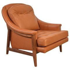 Edward Wormley Leather Janus Lounge Chair