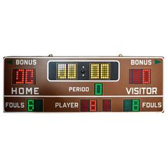 Massive Fair Play 1970s Basketball Scoreboard