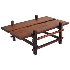 Modernist Coffee Table in Solid Rosewood, Brazil, 1960