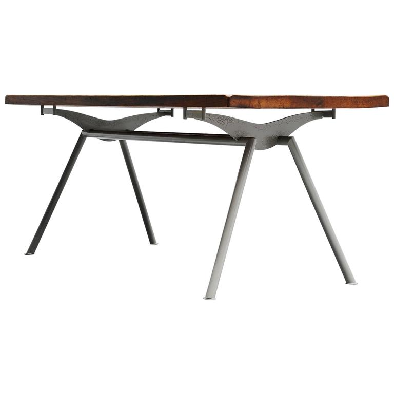 Industrial Dining Table Prouve Perriand Style France 1960 For Sale At 1stdibs