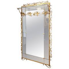 Beautiful Pier Luigi Colli Hallway Mirror and Coat Stand