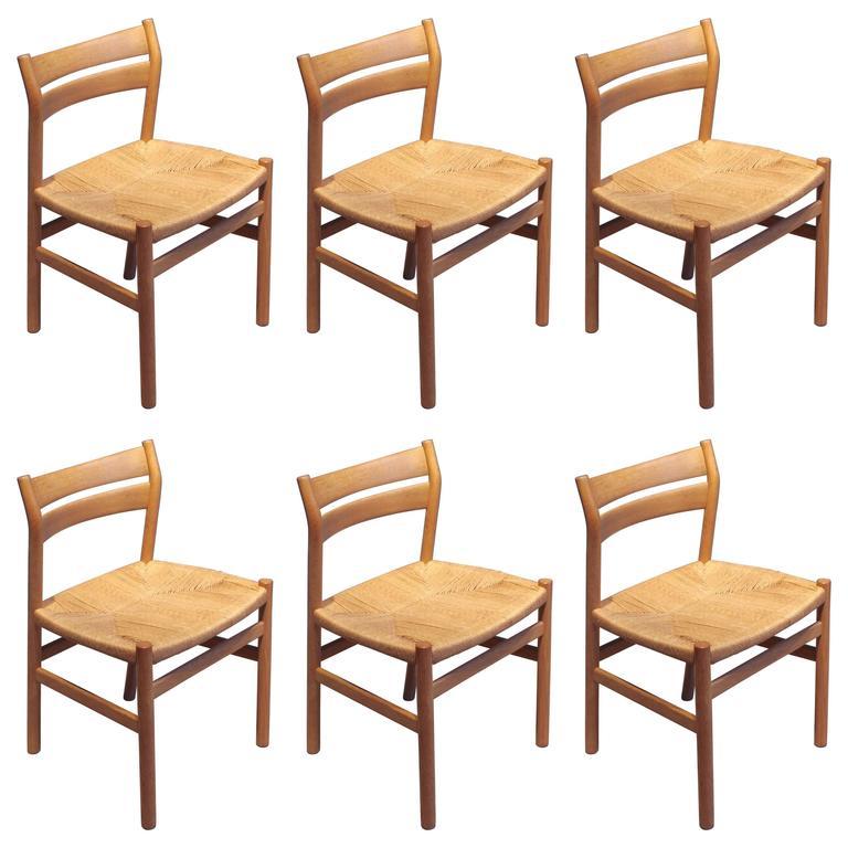 BM1 Dining Chairs by Børge Mogensen CM Madsen, Set of Six
