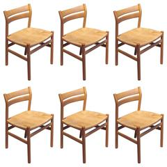 BM1 Dining Chairs by Børge Mogensen CM Madsen, Set of Six