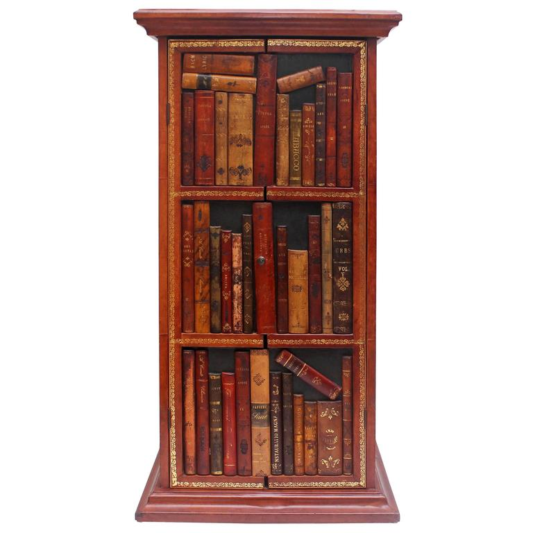 Italian Faux Bookcase Front Cabinet