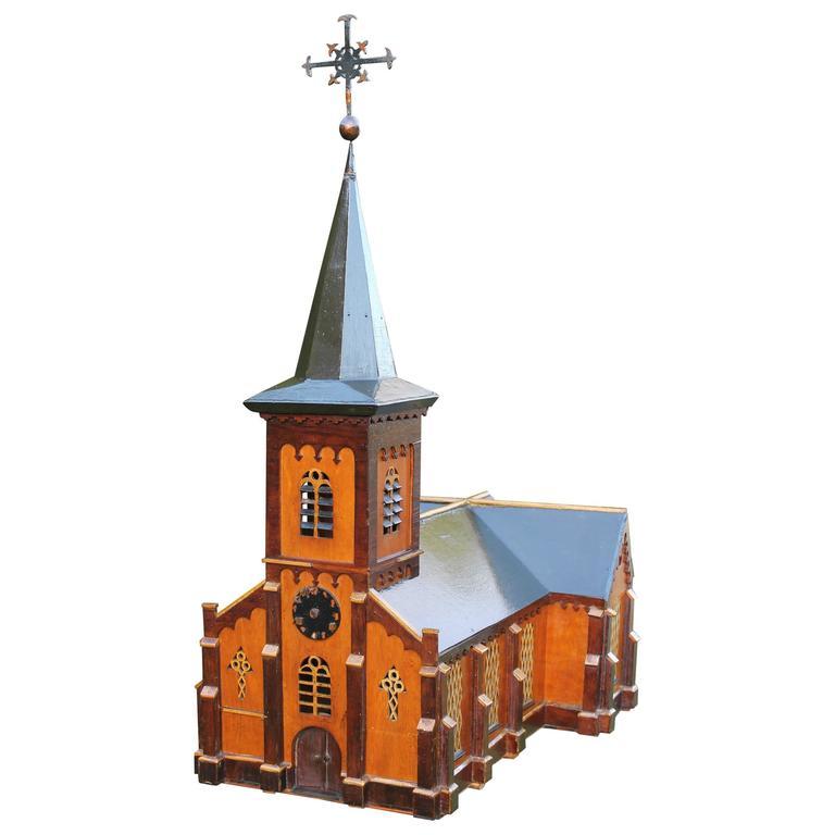Folk Art Model Belgian Church