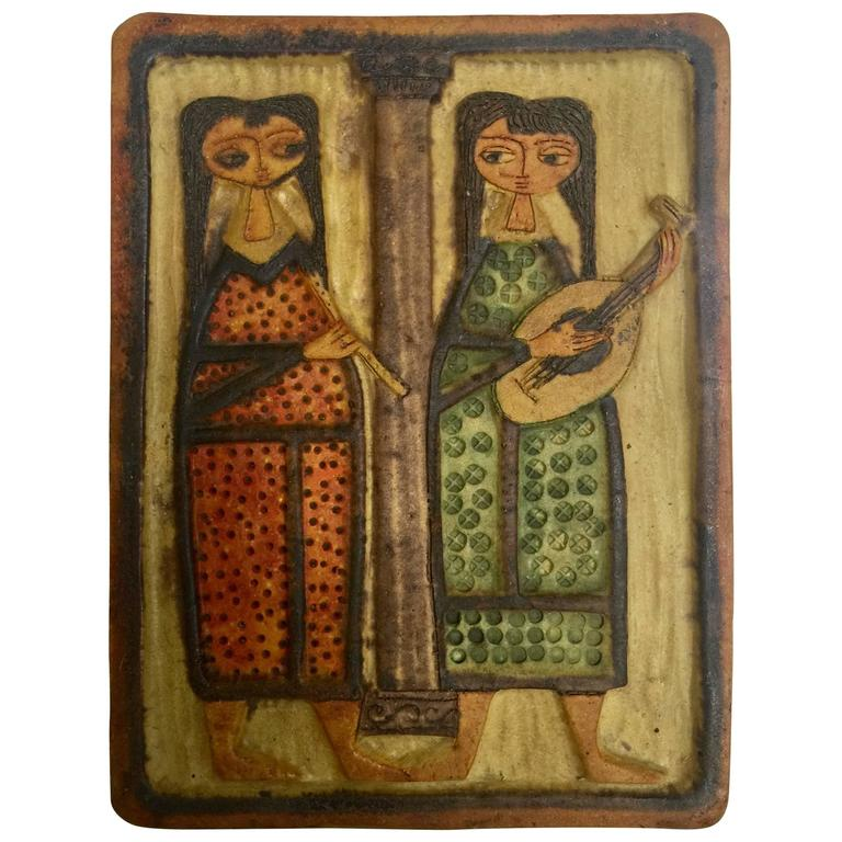 Marcello Fantoni Ceramic Plaque 1