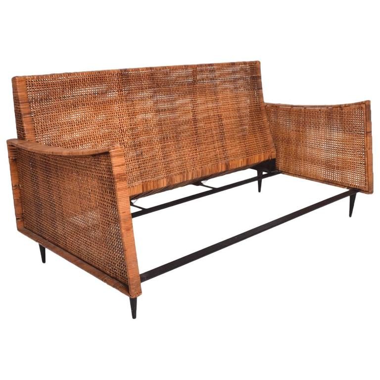 Mid Century Modern Cane Loveseat Attributed To Arturo Pani For Sale At 1stdibs