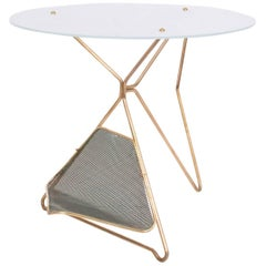 Mid-Century Modern Italian Table with Magazine Holder