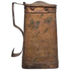 Antique Brass Mug Container, Pilgrim