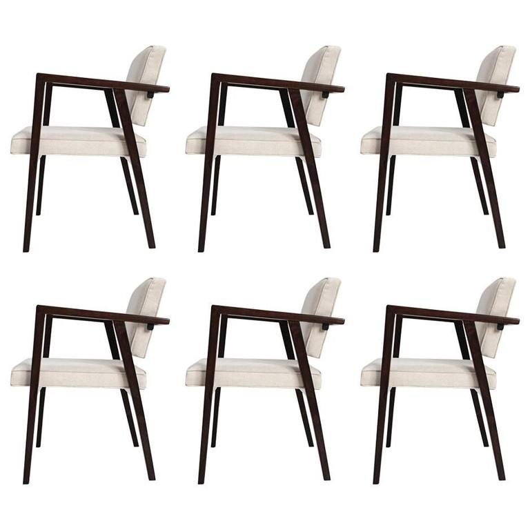 Franco Albini Set of Six Chairs, Manufactured by Forma, Brazil, 1950