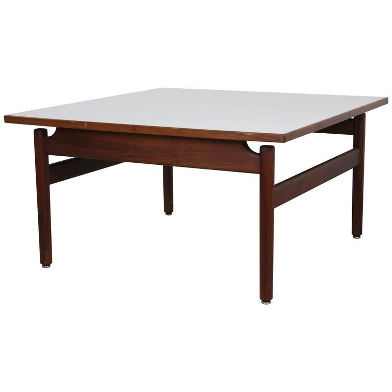 Jens Risom Walnut and Laminate Coffee Table