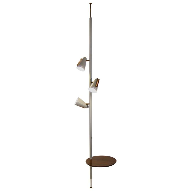 Raymond Loewy For Stiffel Tension Pole Lamp With Attached