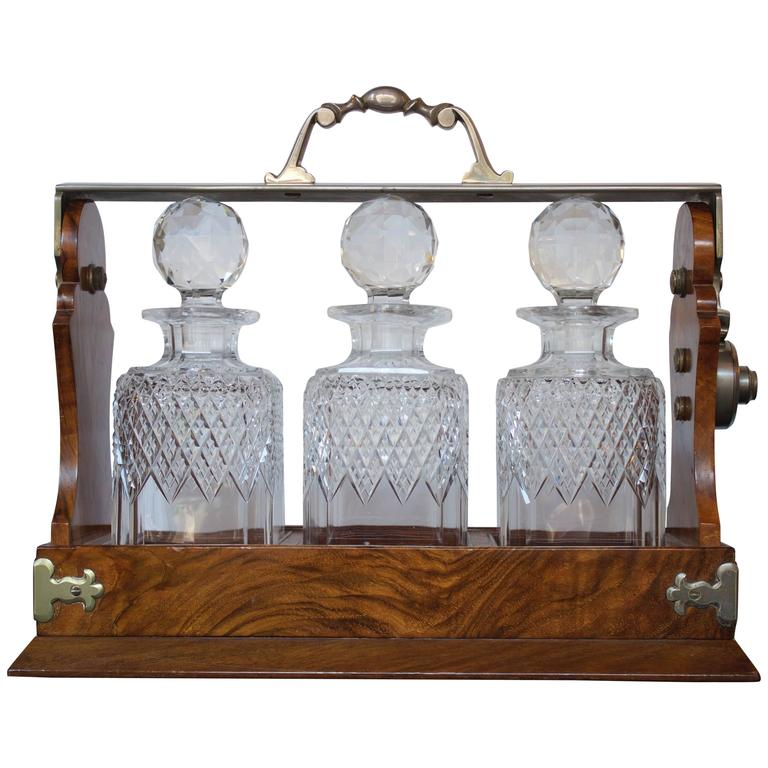 19th Century English Tantalus Decanters Stamped by Makers For Sale