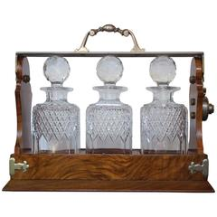 19th Century English Tantalus Decanters Stamped by Makers