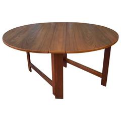 Mid-Century Scandinavian George III-Style Drop-Leaf Teak Table