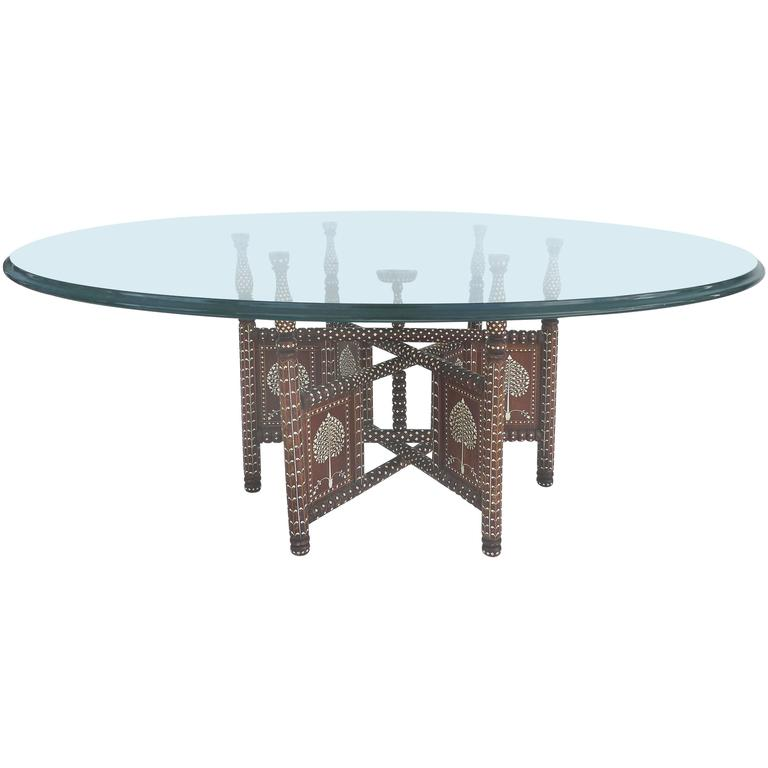 20th century morrocan bone inlaid coffee table at 1stdibs. Black Bedroom Furniture Sets. Home Design Ideas