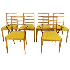 Vintage Mid-Century Modern Six Teak Dining Side Chairs by G Plan