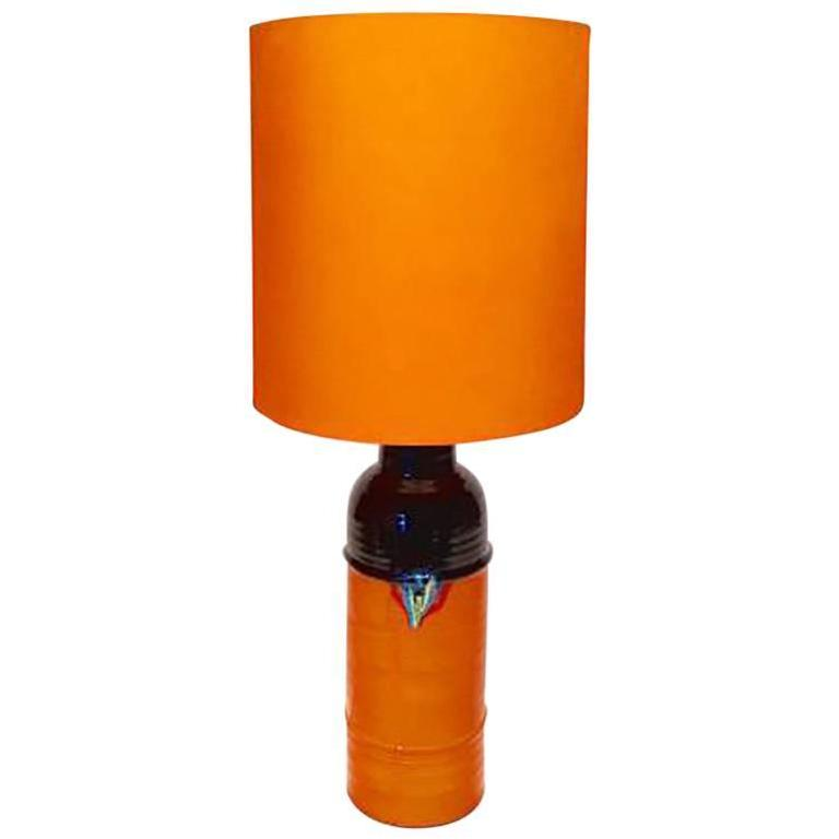 Mid-Century Glazed Ceramic Table Lamp by Bjorn Wiinblad for Rosenthal For Sale