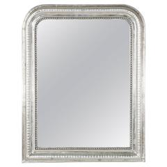 19th Century Louis Philippe Silvered Mirror Original Mercury Glass