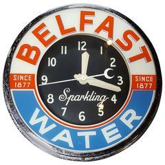 Belfast Water Neon Advertising Clock